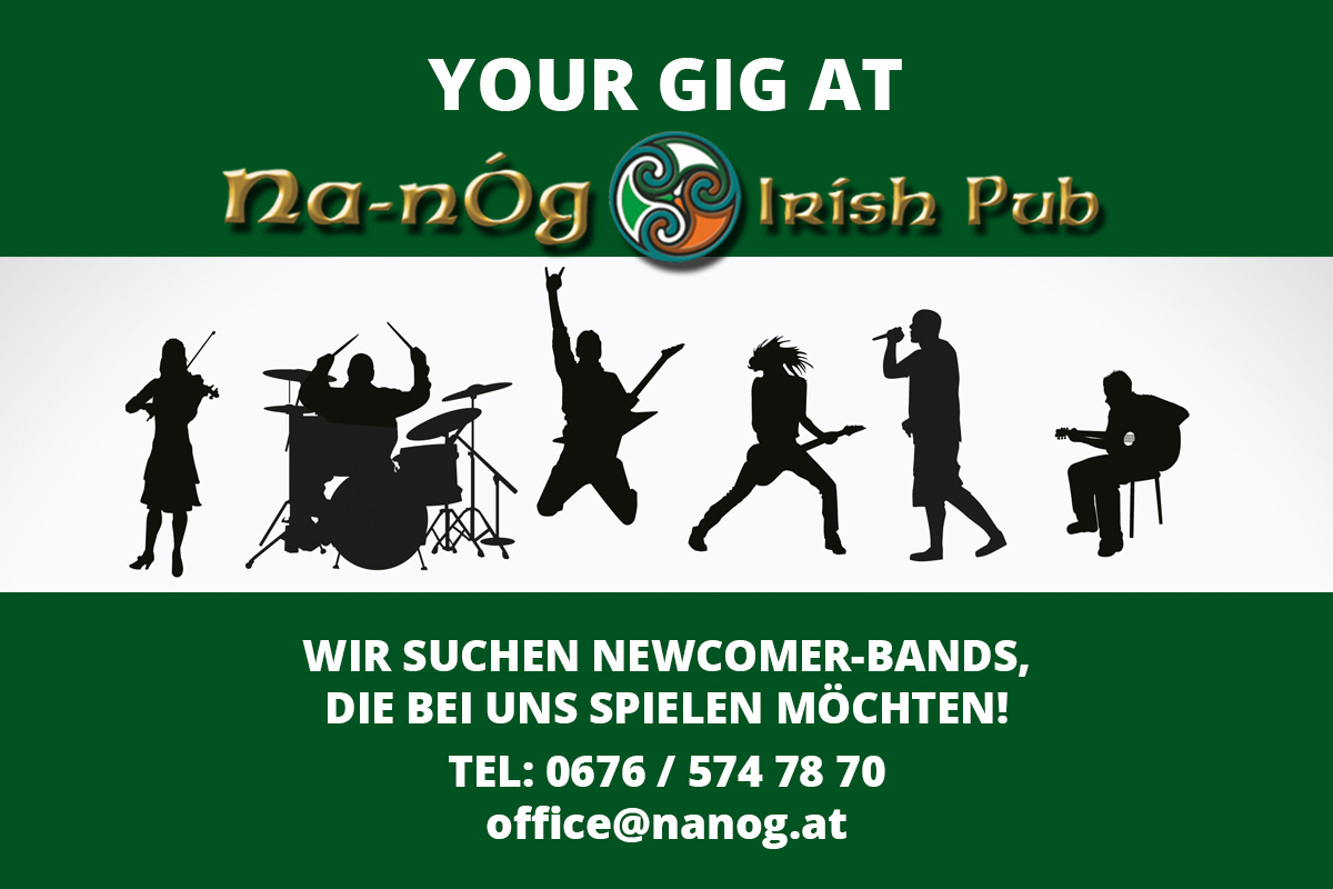 Newcomer Band gig - Contact us! - Na-nÒg Irish Pub