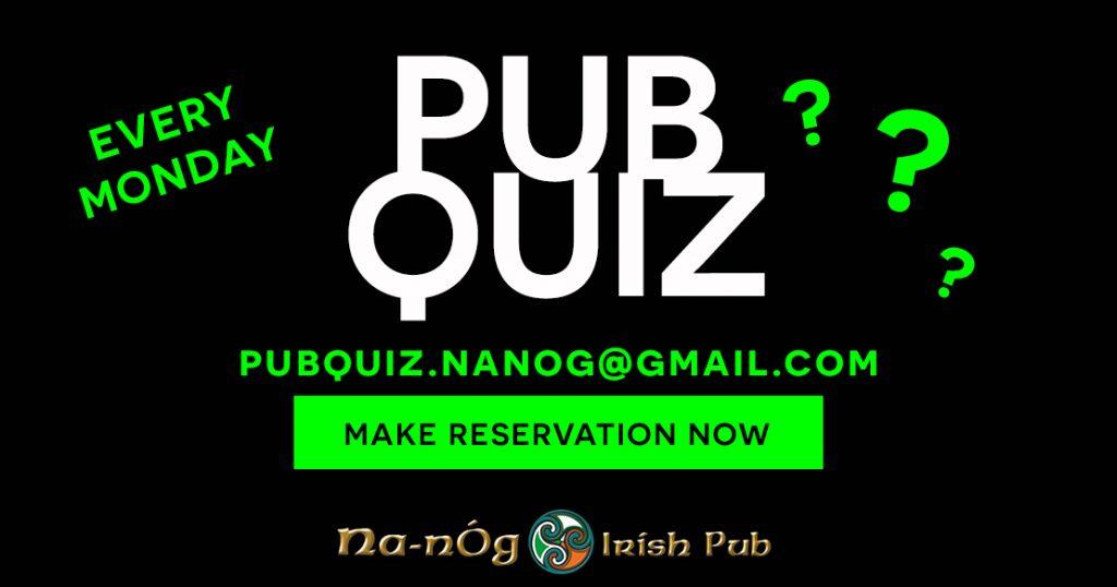 Pub Quiz Na-nÒg Irish Pub